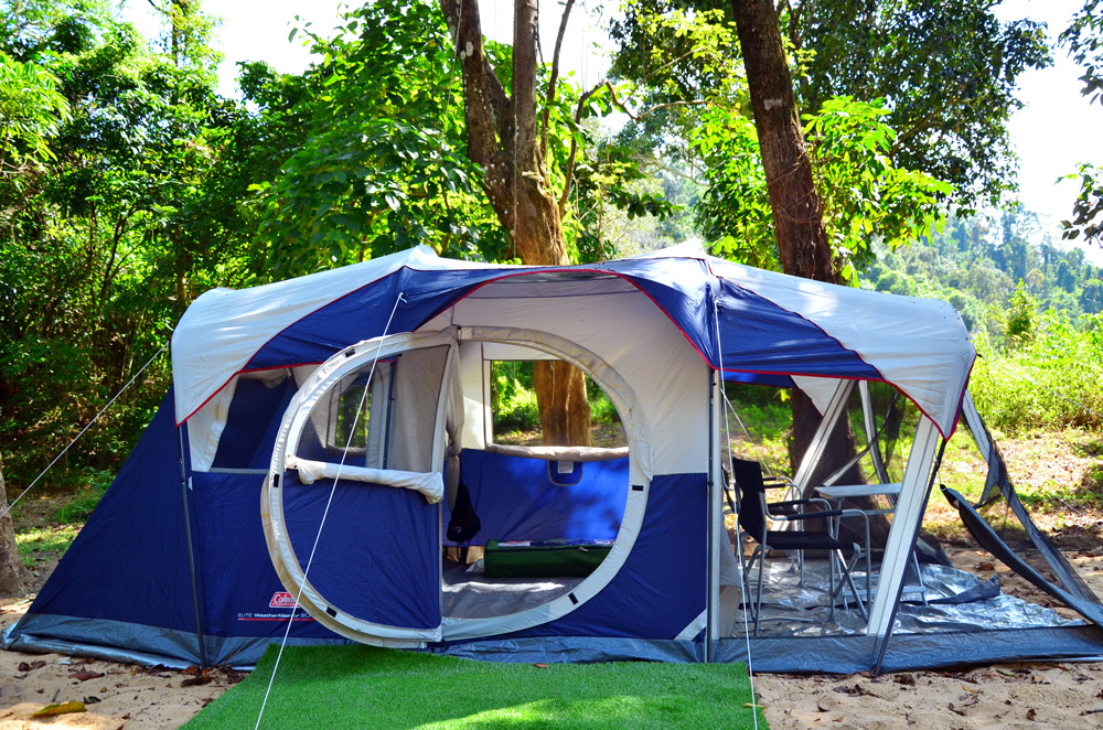 Our tents for Thailand camping at Koh Ra